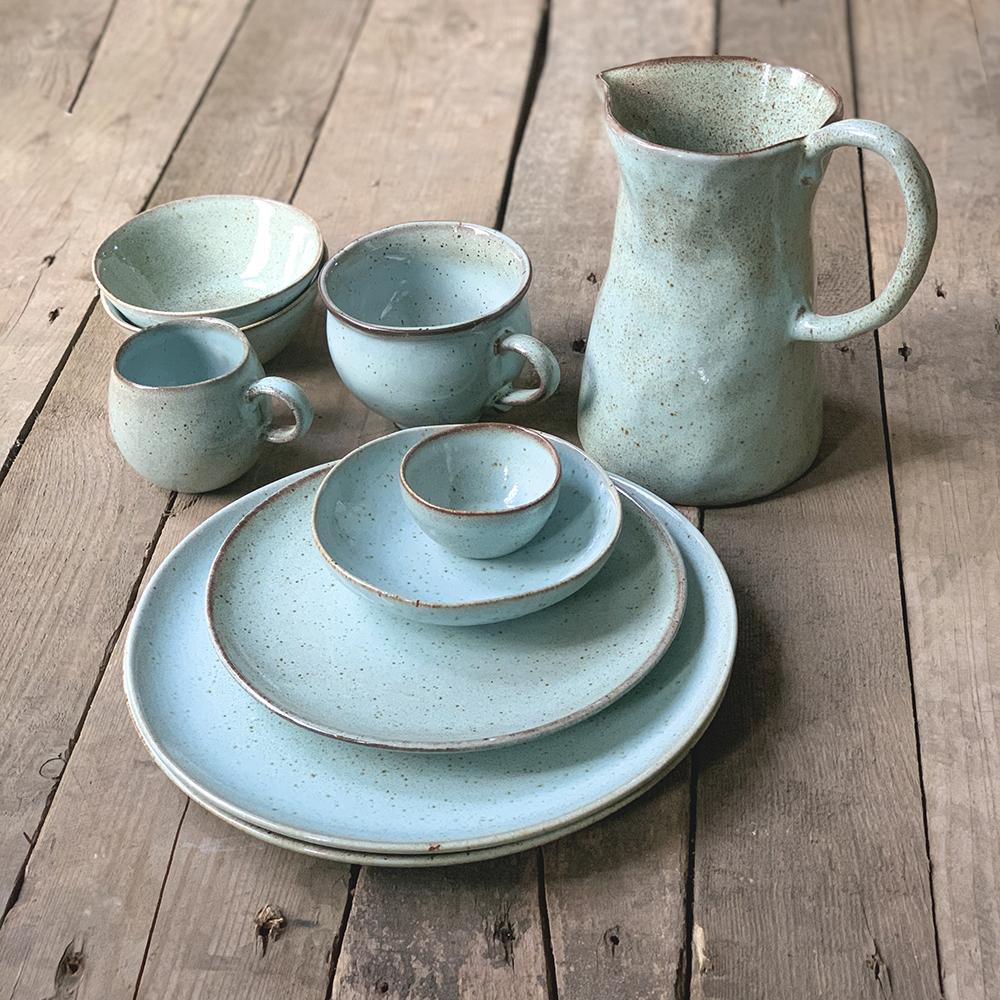 groen servies bakkerij frank rood van het merk: Kitchen Trend Products, Materiaal: Stoneware, Vaatwasbestendig