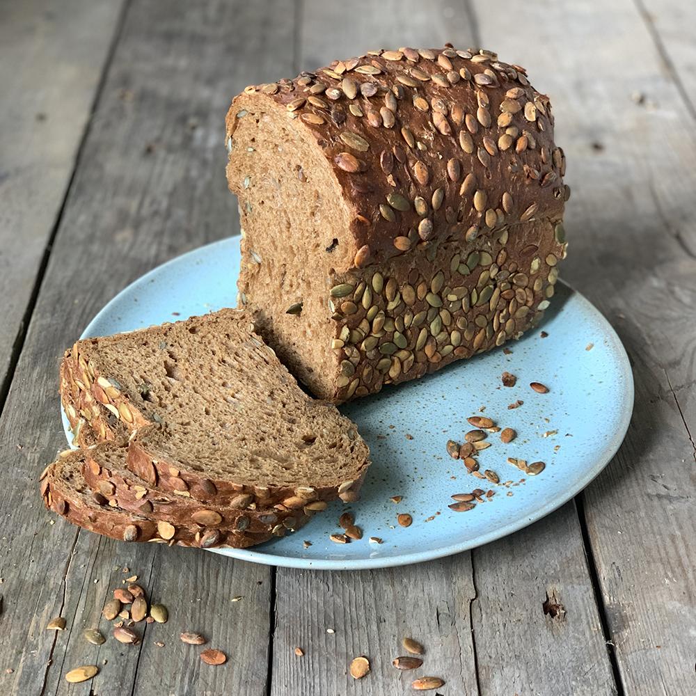 pompoen brood van Bakkerij Frank Rood