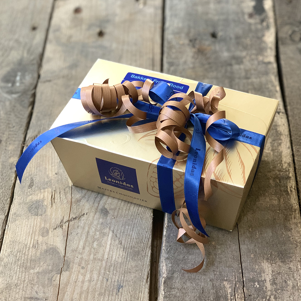 verpakking leonidas bonbons bakkerij frank rood